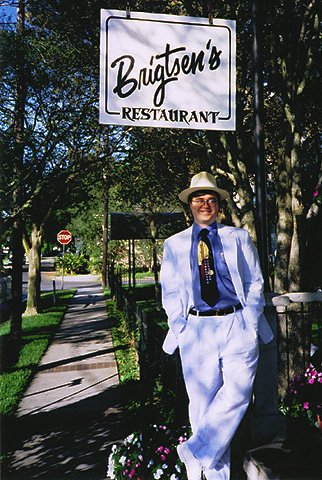 For those of you with images turned off, or if you're visually disabled, this is a picture of Chuck, stylin' in a seersucker suit.  He looks good (although he could stand to lose 30 pounds here, and subsequently has).  Sorry you can't see it.