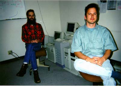 Thomas Leavitt and  Chris Schefler (right)